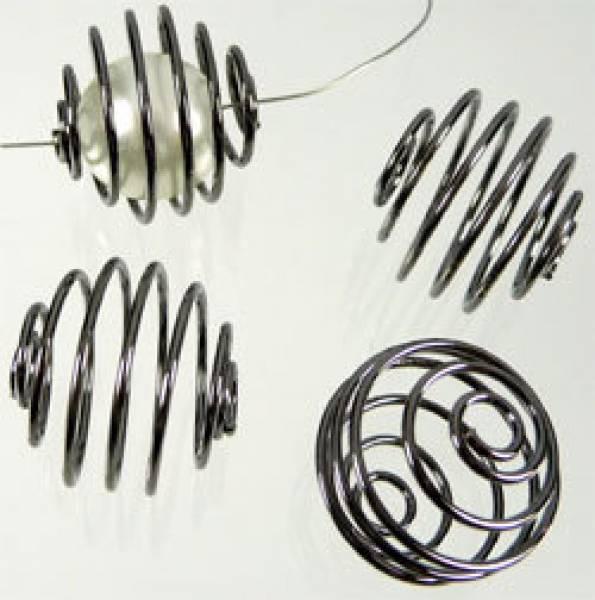 10 Wechselspiralen 17mm schwarz/grau 05373