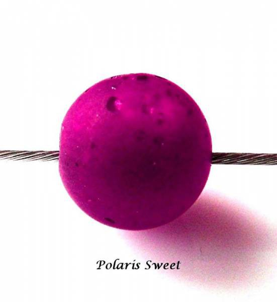 5 Sweet Polarisperlen 10mm himbeere matt