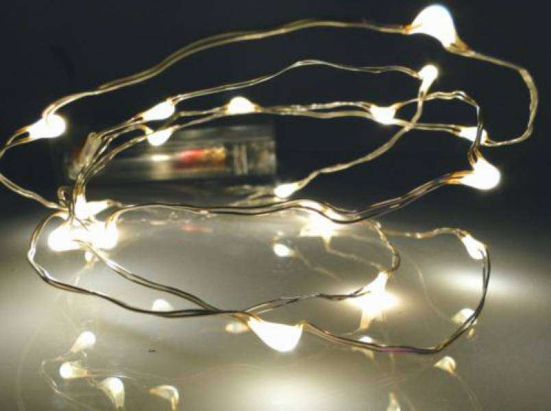 Led Lichterkette 40er Micro Silberdraht Batteriebetrieben Warmweiß |  Batteriebetrieb | Innen / Indoor | LED   Drahtlichterketten | Dekotrend24