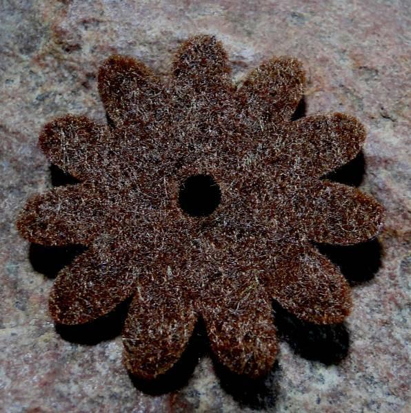 Ringscheibe Filz Blume braun