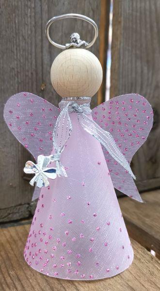 """Mini-Glücksengel """"Rosa"""" Bastelpackung, mit Beleuchtung"""
