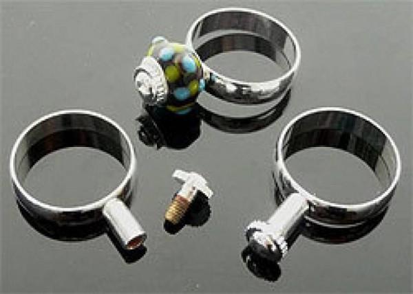 1 Wechselring 18-20mm silber für Beads Ring 0969
