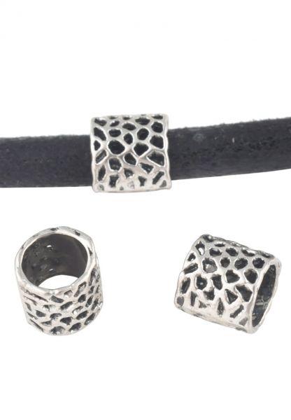 Schiebeperle Bead 8mm Metall silber/platin 20303