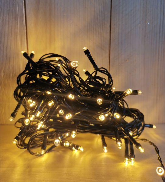 LED Lichterkette 80 LEDS Timer extra warmweiß für innen und außen Strom