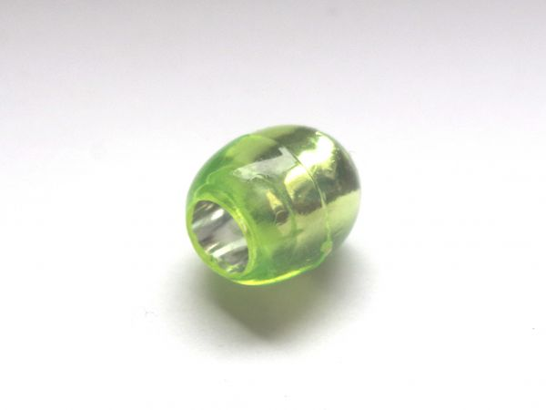 10 Beads 13,5x12mm Olive Kunststoff Silberfolie hellgrün 025267