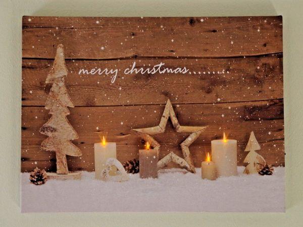 """LED Bild """" Weihnachtszeit """""""