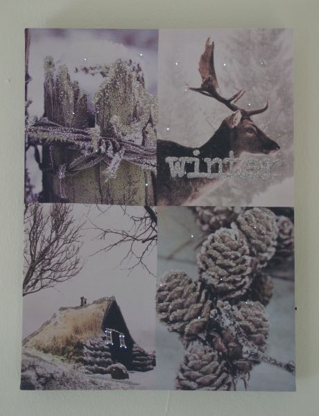 "LED Bild Fieberglas "" Winterwelt """