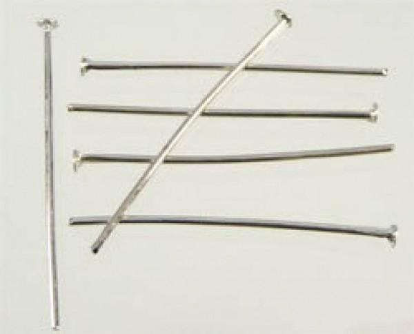 100 Nietstifte 30mm silber/platin Metall 07403