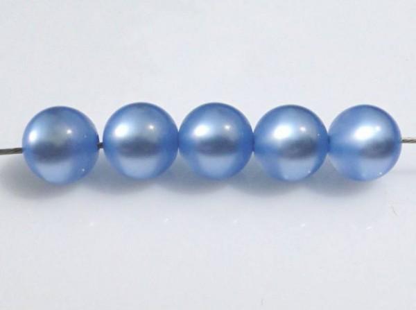 5 Polarisperlen 10mm hellblau glänzend