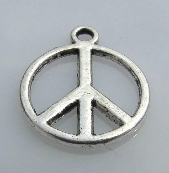 1 Anhänger Charms Peace silber/platin 24088