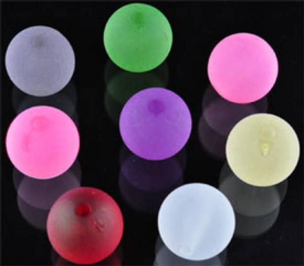 50 Perlen Mix bunt matt 14mm Kunststoff 08931