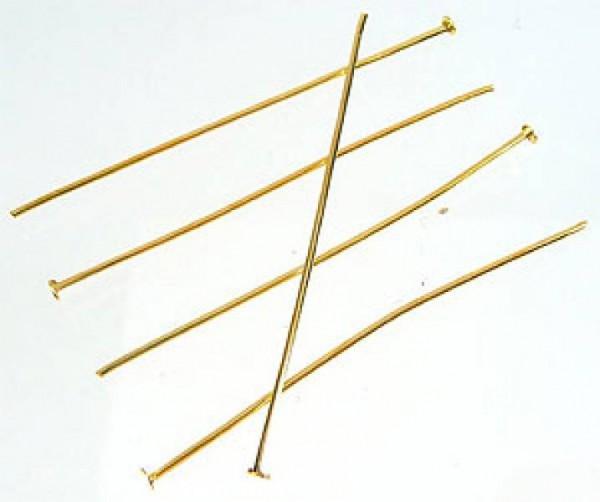 50 Nietstifte 40mm goldfarben Metall 08642