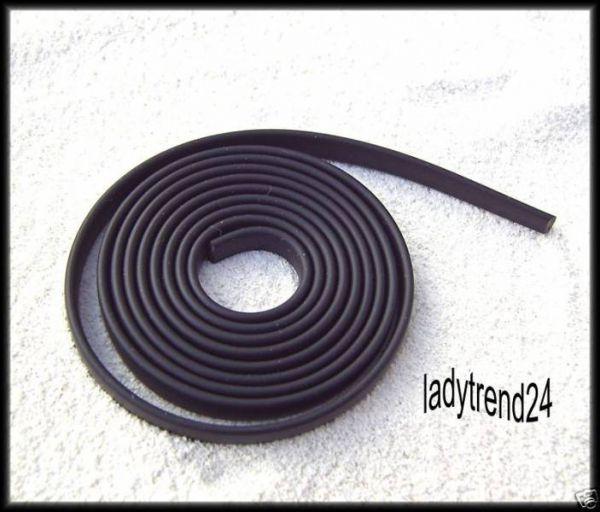 1m Kautschukband - 6mm - schwarz 0311