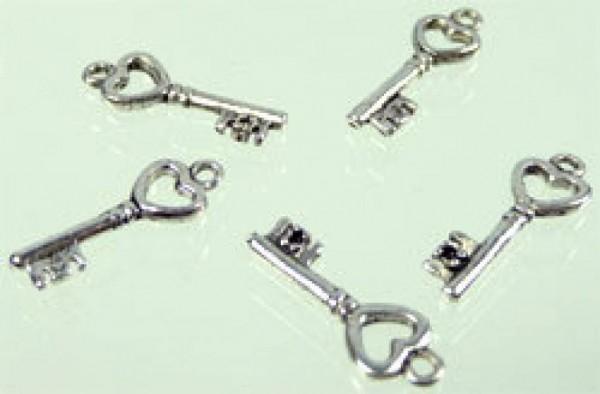 1 Anhänger silber Schlüssel 20mm 02871