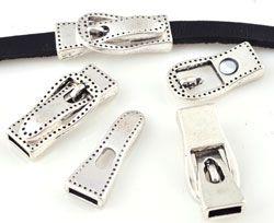 1 Magnetverschluss Schnalle 27x12mm Metall silber/platin 15926 Schiebperlen