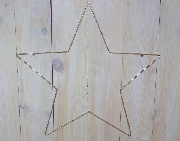 1 Metallform Stern 40cm silber