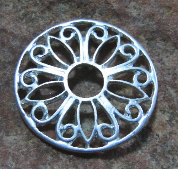 Ringscheibe filigran silber 28mm