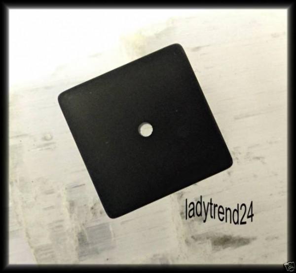 1 Polaris Quadrat Scheibe 16mm schwarz