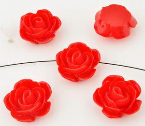 1 Rose 23x11mm rot Kunststoff 09927