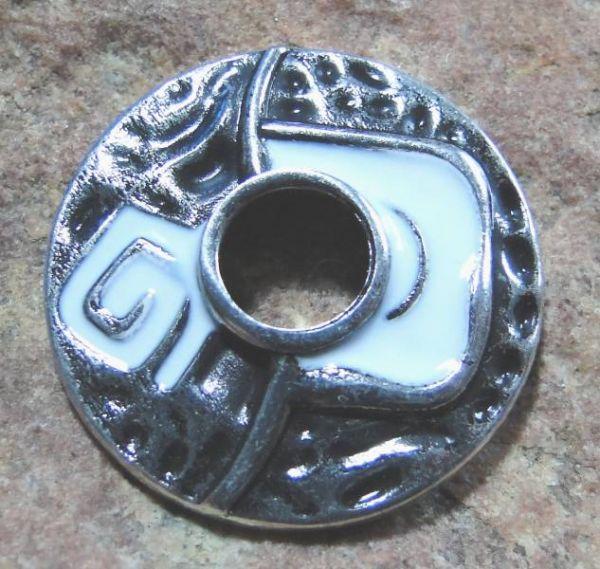 Ringscheibe Epoxy weiß silber 25mm