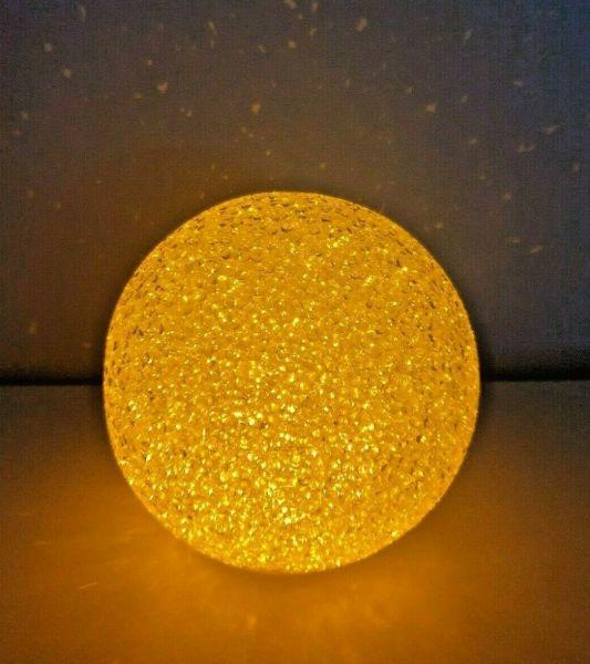 LED Kugel beleuchtet Flammenoptik 12cm