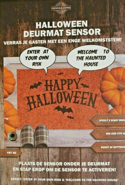 Musikalischer Türmattensensor mit gruseligen Halloween Geräuschen