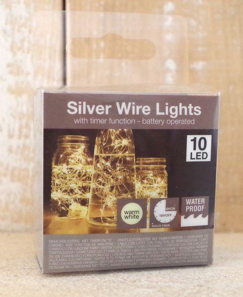 Unterwasser Drahtlichterkette 10 LED's mit Timer