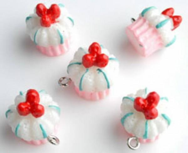 1 Anhänger Muffin rosa 010463