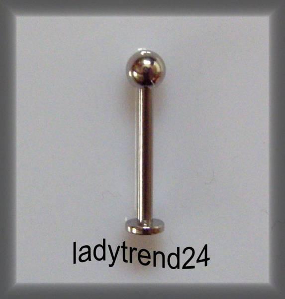 1 Wechselstab Ringstab silber 18,5mm 51