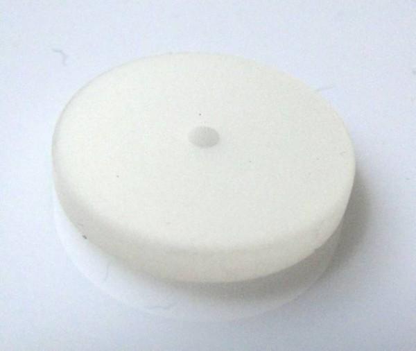 1 Polaris-Scheibe flach 16mm weiss matt